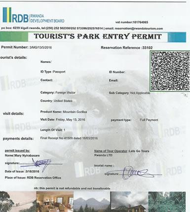 Rwanda Gorilla Trekking Permits
